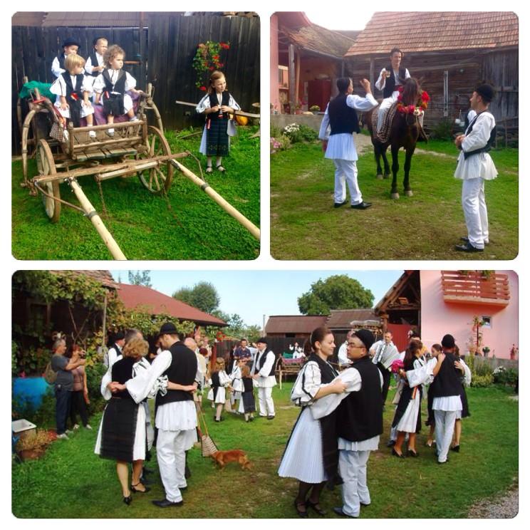 Traditional wedding in Sibiel in Transylvania