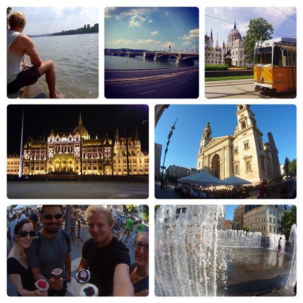 Budapest Danube - Donauradweg and Nightlife