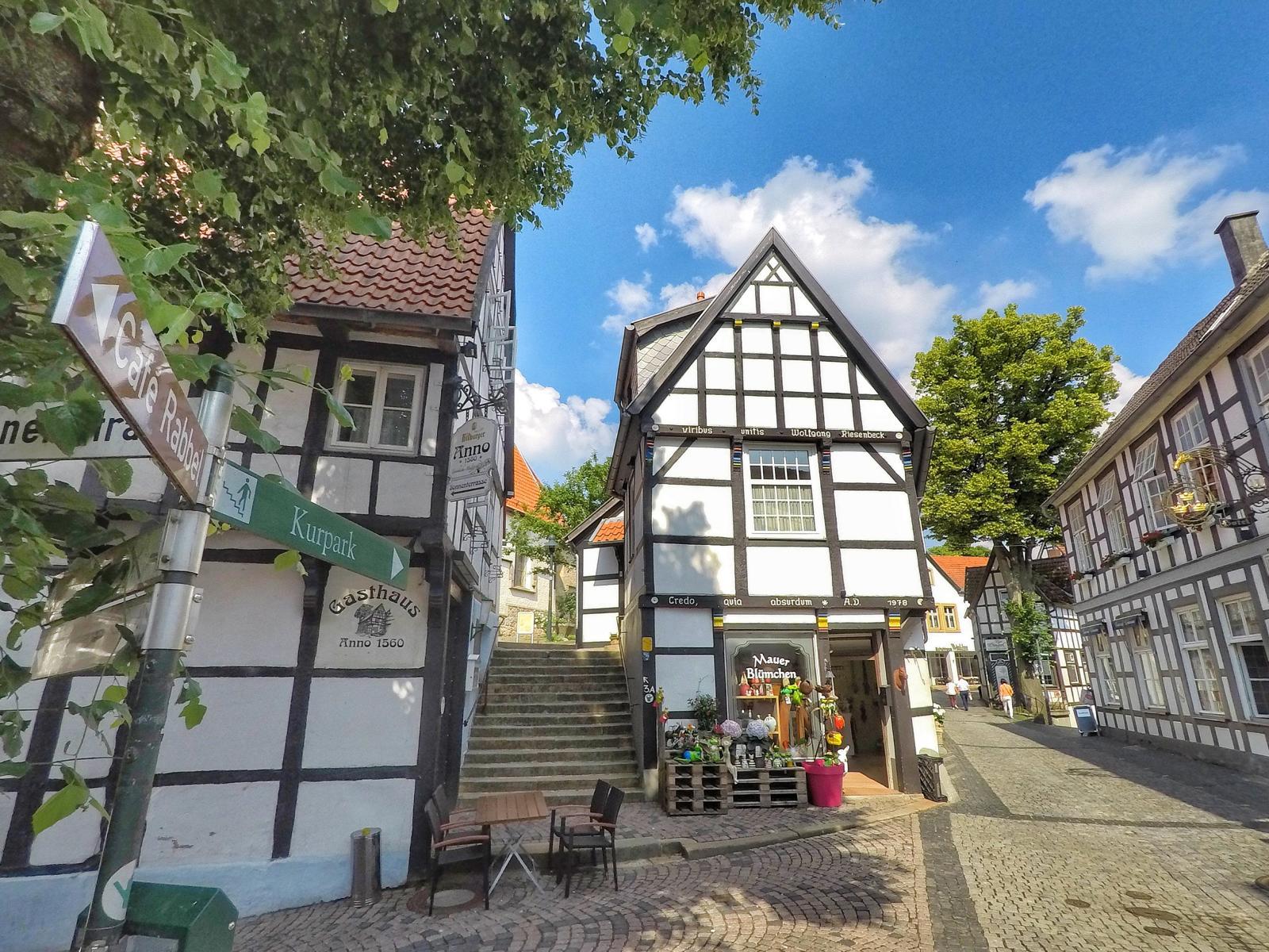 Fachwerkhäuser in Tecklenburg im Münsterland
