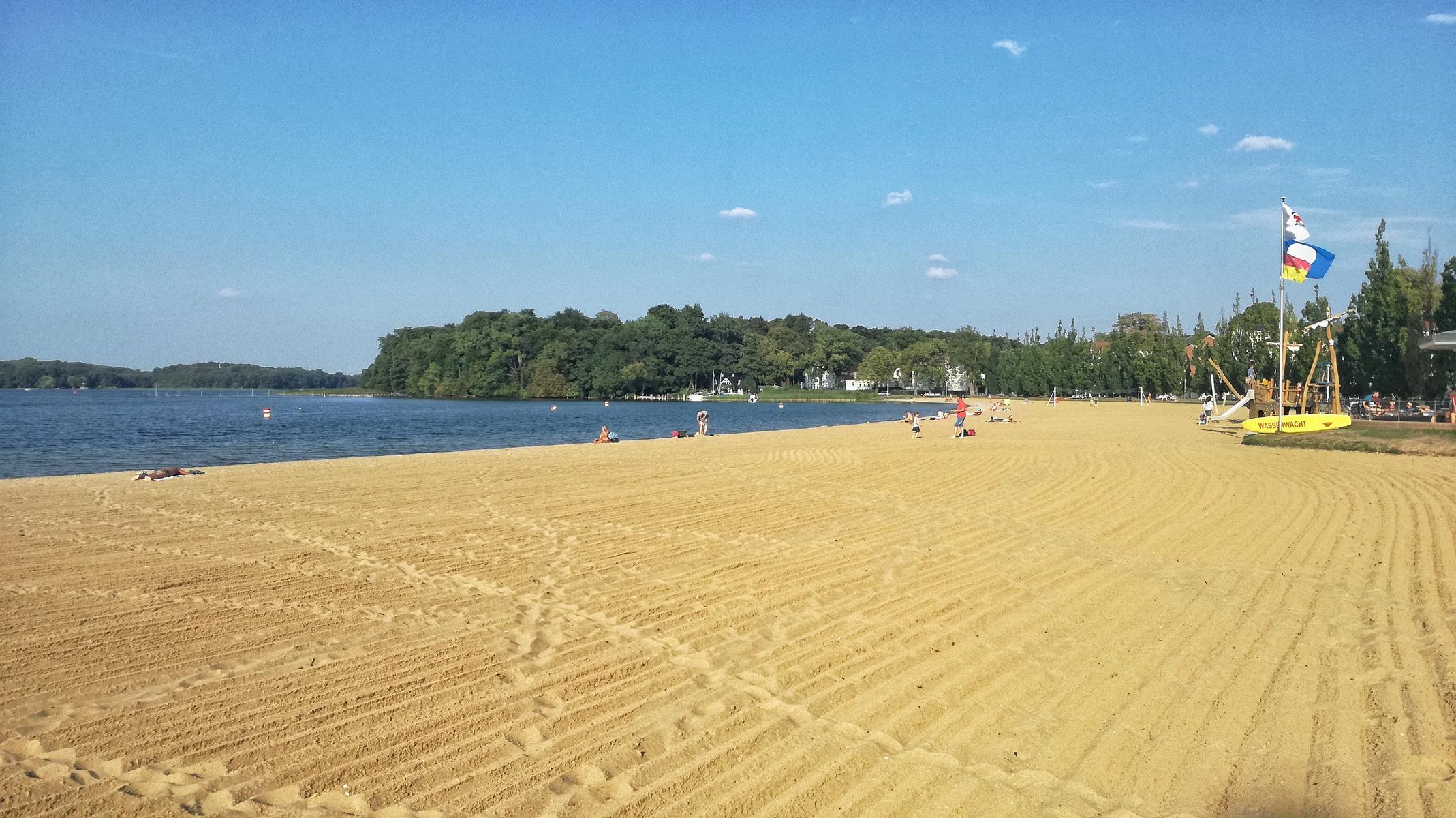 Der Strand ist leer in Schwerin