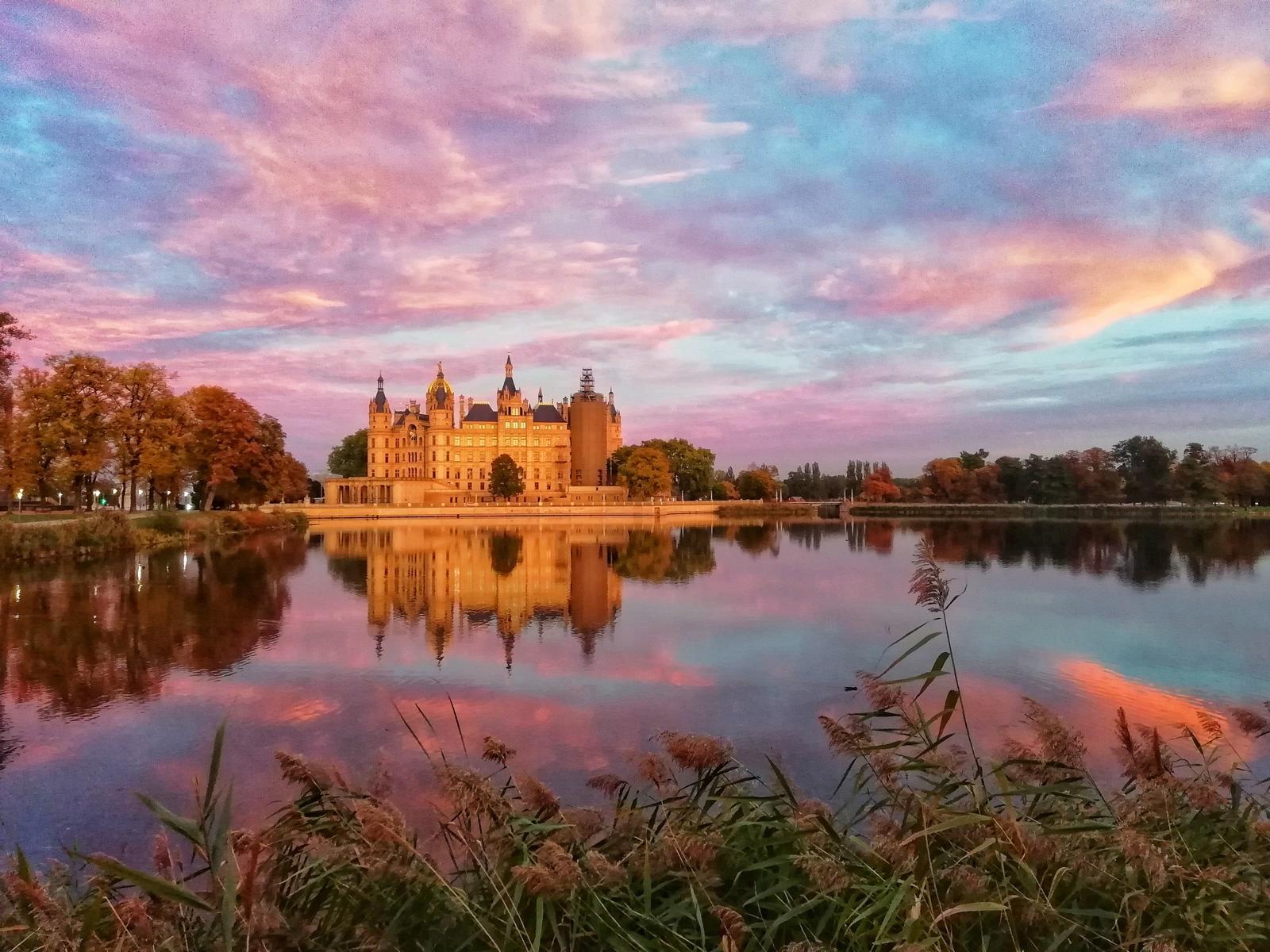 Sonnenuntergang am Schweriner See