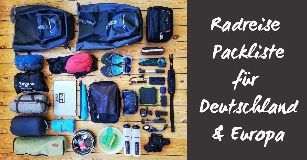 Radreise Packliste für den Sommer in Deutschland & Europa