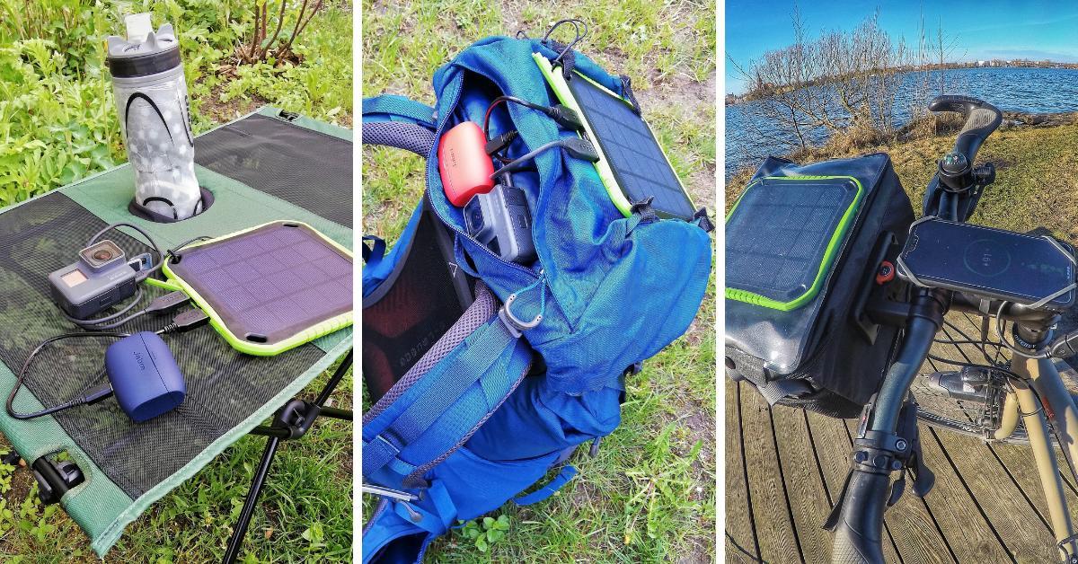 Solar Panel beim Wandern und Radreisen
