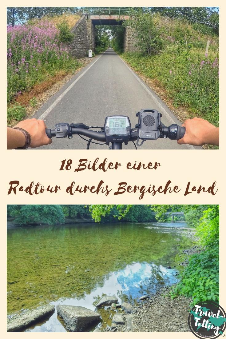 """In 18 Bildern entlang des Rad-Rundwegs """"Auf Müller's Spuren"""" im Bergischen Land"""